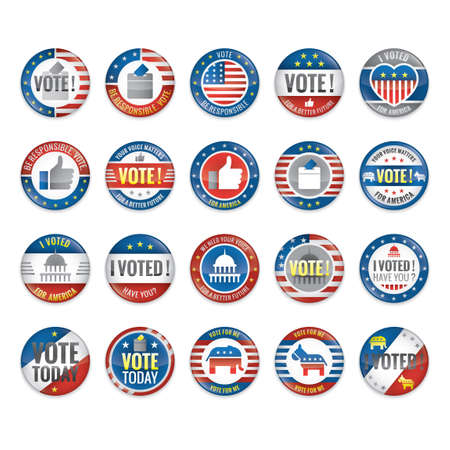voted: Set of voting badges