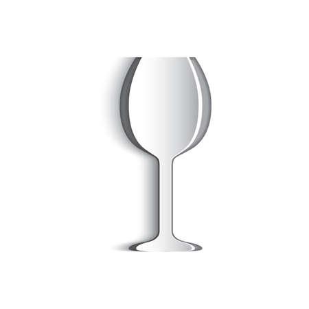 ritagliare: Carta tagliata di bicchiere di vino