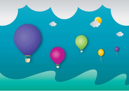 hot air: Hot air balloon Illustration