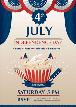 pm: Independence day invitation Illustration