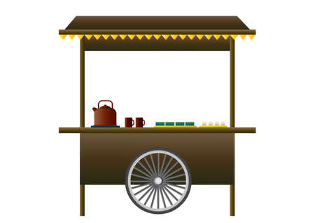 cart: Street food cart Illustration