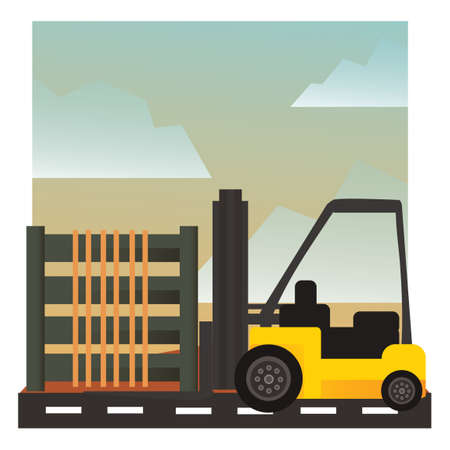 site: Forklift at construction site