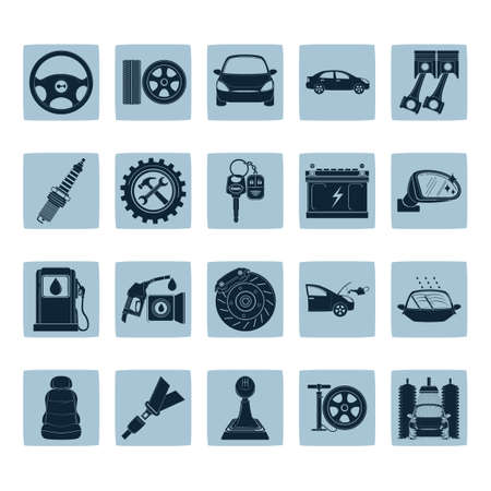 air hammer: Collection of automobile icons Illustration