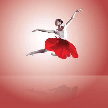 entertainer: Ballet dance Illustration