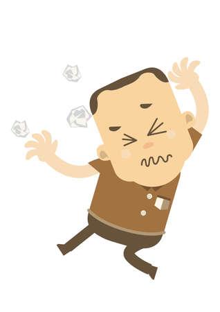 frustrated: Frustrated man Illustration