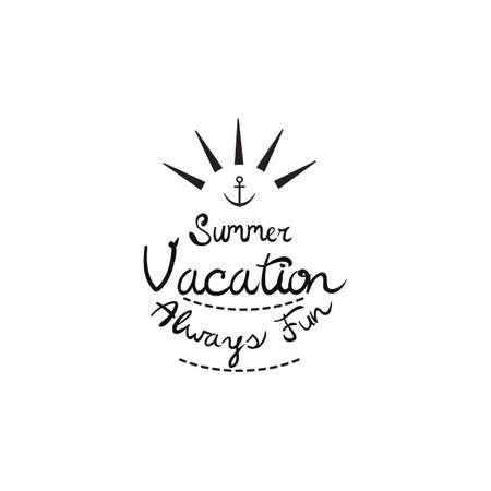 always: Summer vacation always fun Illustration