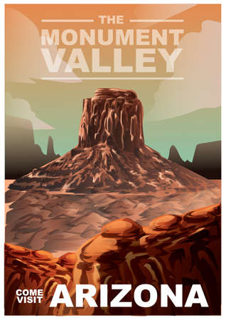 valley: Monument valley poster Illustration