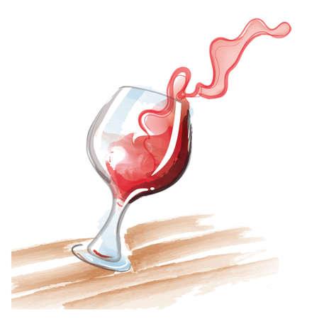 wine red: Red wine splash Illustration