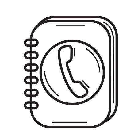 contacting: Telephone dairy Illustration