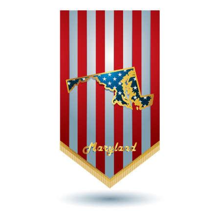 maryland: Maryland state banner Illustration