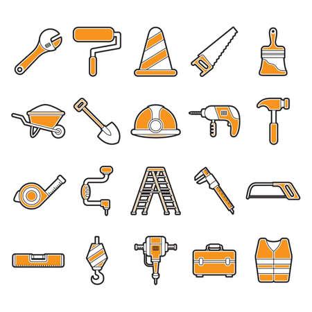 spirit level: Set of construction tools