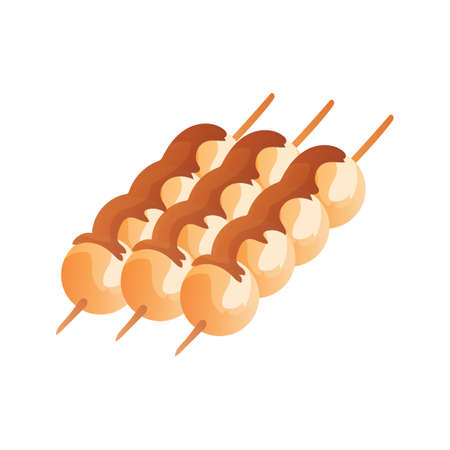 japanese dessert: Mitarashi dango