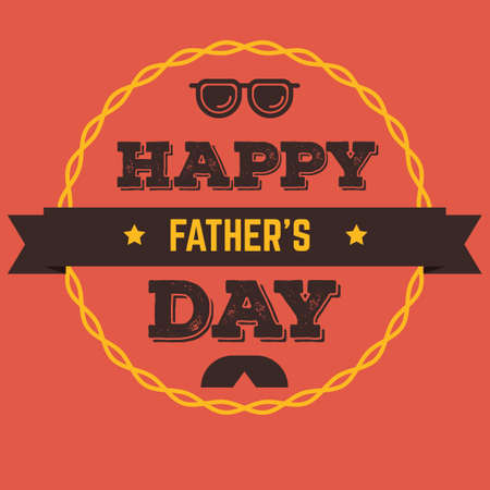 eyeshades: Fathers day greeting card Illustration