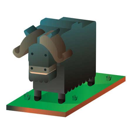 yak: Isometric yak Illustration