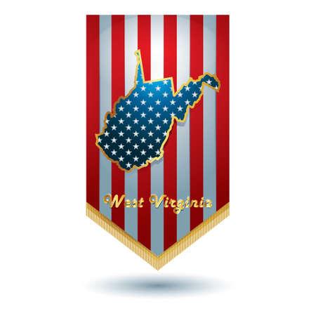 virginia: West virginia state banner