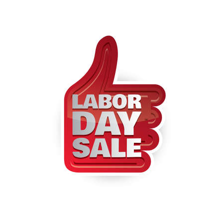 labor day: Labor day sale label Illustration