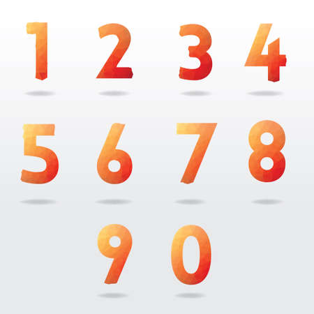 numbers: Numbers collection Illustration