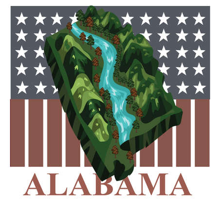 alabama state: Alabama state map