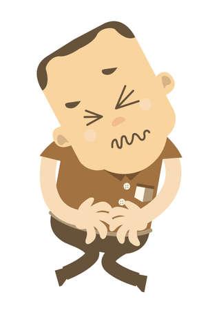tummy: Man with tummy ache