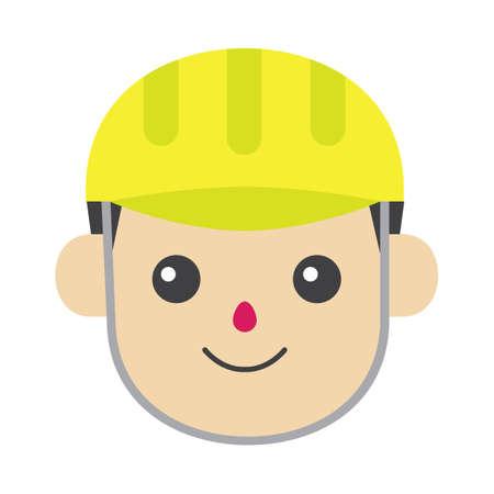 wearing: Boy wearing helmet Illustration