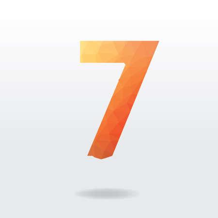 number seven: Number seven Illustration