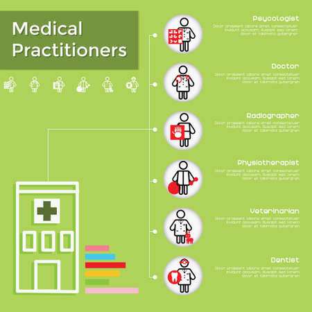 practitioners: Medical practitioners infographic