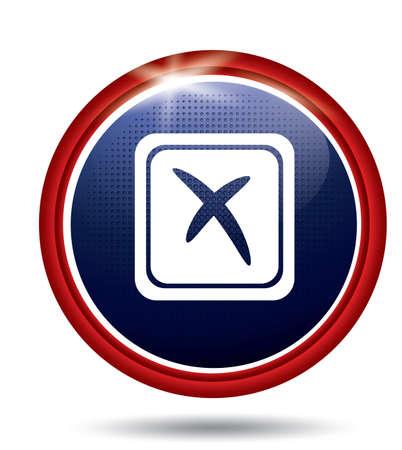 checkboxes: Cross mark Illustration