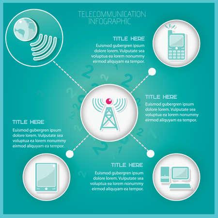 telecommunication: Telecommunication infographic Illustration