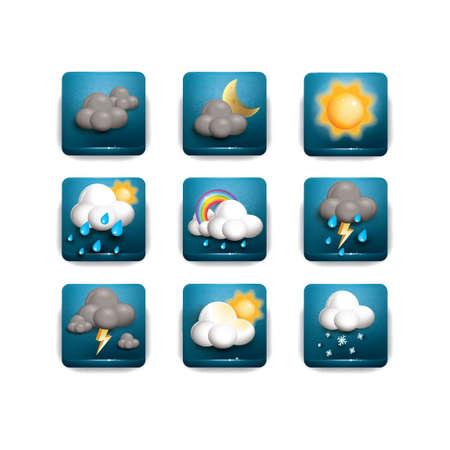 snowfalls: Set of weather icons