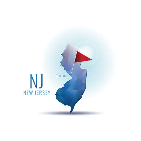 jersey city: New jersey map with capital city