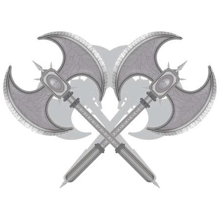 tomahawk: Crossed battle axes