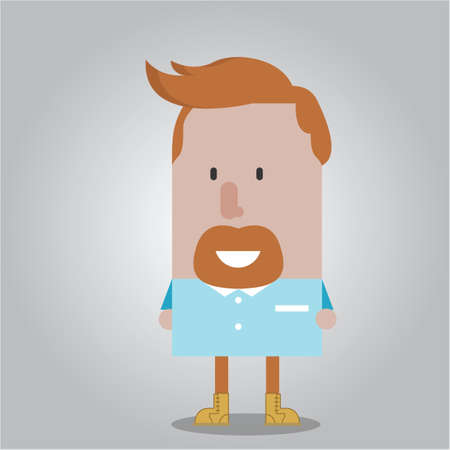 man with a goatee: Man with goatee Illustration