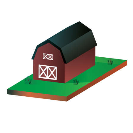 country side: Isometric barn house