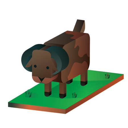 cattle: Isometric cattle