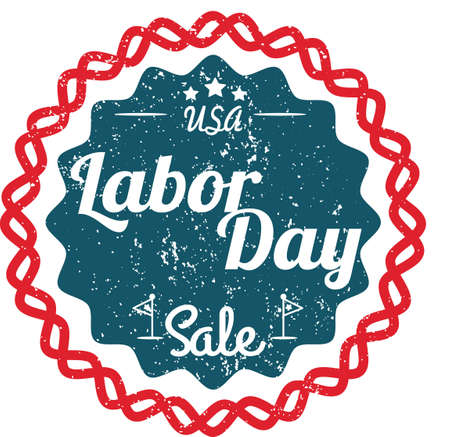 holiday celebrations: Labor day label