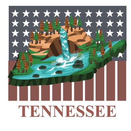 tennessee: Tennessee el mapa del Estado Vectores