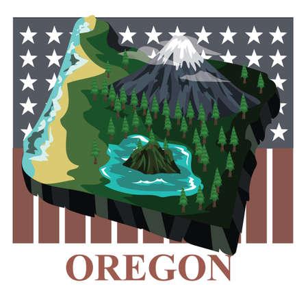 オレゴン州地図 写真素材 - 43307345