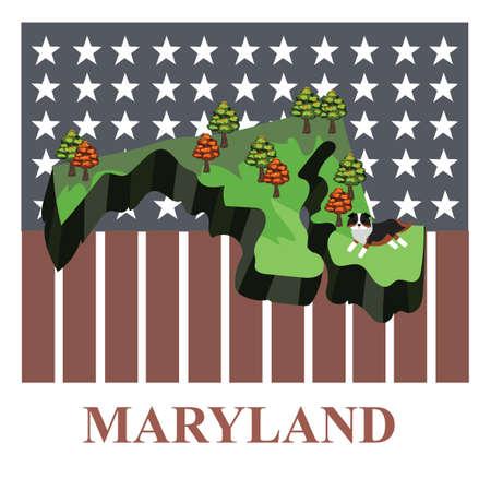 maryland: Maryland state map