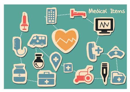 enfermera con cofia: Los iconos de m?dicos