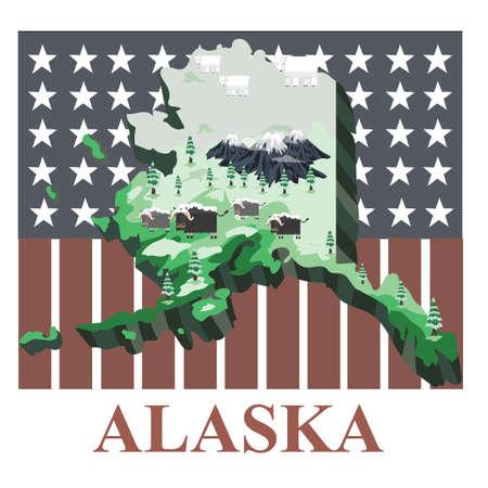アラスカ州の地図 写真素材 - 43307278