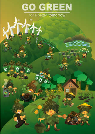 plucking: Go green concept