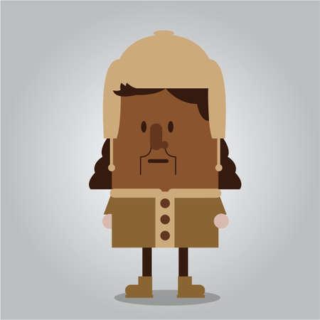 wearing: Man wearing  winter clothing
