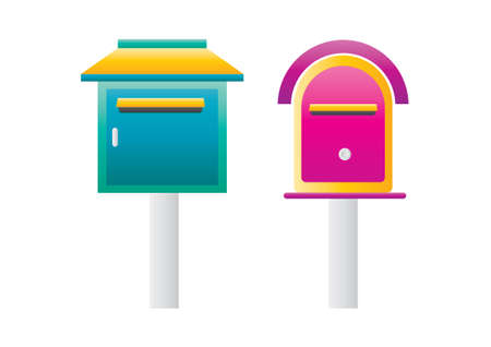 mailboxes: Mailboxes Illustration