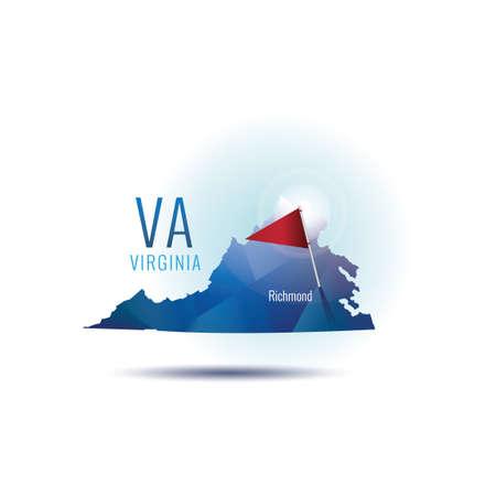 首都バージニア州地図