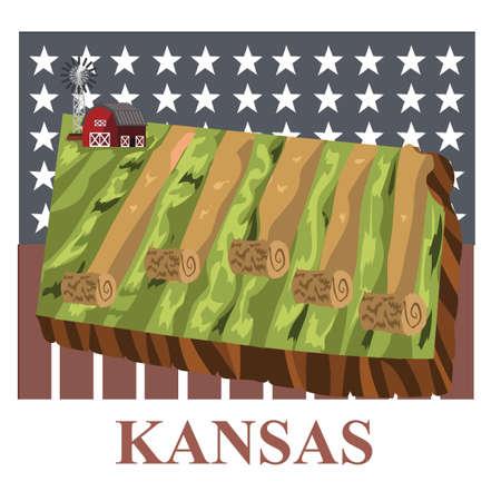KANSAS: Kansas state map