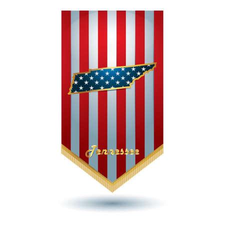 tennesse: bandera del estado de Tennessee