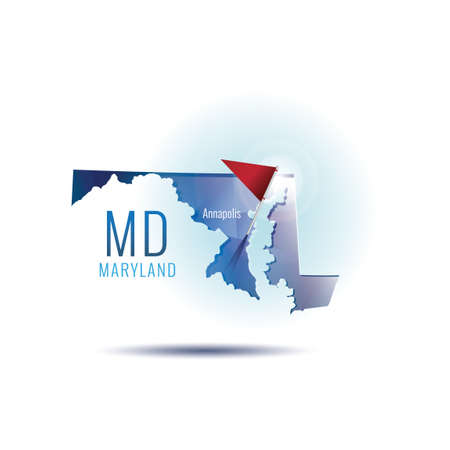 Maryland map with capital city