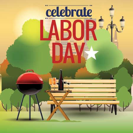 労働者の日を祝う  イラスト・ベクター素材