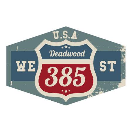 deadwood: Deadwood 385 route label Illustration