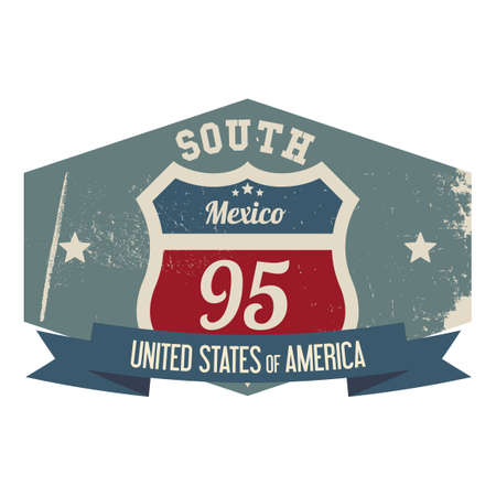 95: South mexico 95 label Illustration
